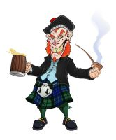 Grinning Scottish Leprechaun by mackie85
