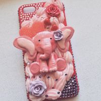 Cute elephant phone case by MoniqueSweets