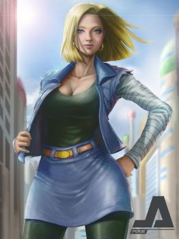 Android 18 funart:) by jepoyeee