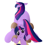 Heart Tips x Twilight Sparkle by Dixcord