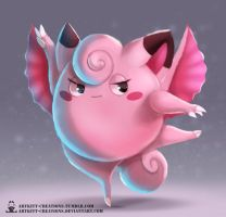 Kanto - Clefairy by ArtKitt-Creations
