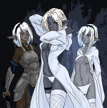 Dahlie, May and Laeh'le by Shabazik
