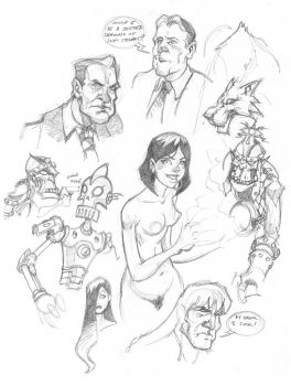 Sketchbook pages by cwalton73