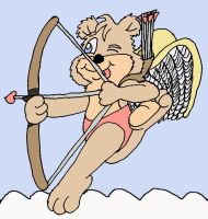 Cupid Bear Taking Aim by 101boy