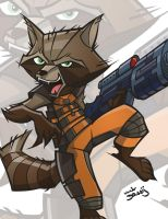 Print 05 Rocket Raccoon by dino-damage