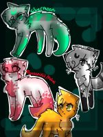 MoonClan Cats dump 1 by OC79