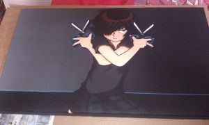 Urabe Mikoto Canvas by eminemster2000