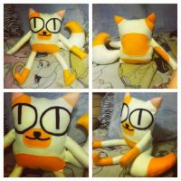 Cake the Cat plush by InceptionErection