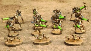 Tabletop Necron Warriors by KaneNash