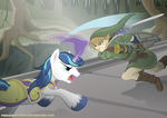 Link vs. Shining Armor by Primogenitor34