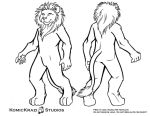 Digitigrade Lion - Free Character template by temperance