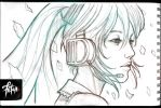 Hatsune MIKU sketch02 by FranciscoETCHART