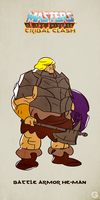 MotU - Tribal Clash: Battle Armor He-Man by G-for-Galdelico