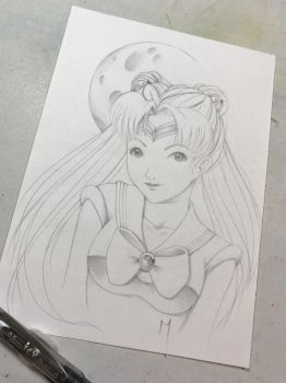 Sailormoon sketch by Nana-Marchae