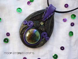 Maleficent inspired amulet by MoonStrengthCrafts