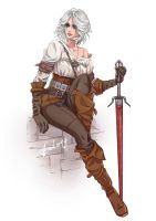Commission Ciri from The Witcher FanArt by Arkuny