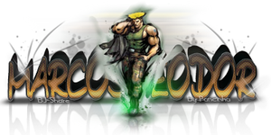 Sign 3D - Guile - MarcosTeodor by Pancinha