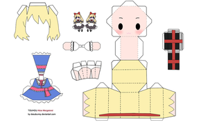 Alice Margatroid Papercraft by tsunyandere