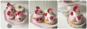 1:3 scale Miniature Raspberry Pastries by Snowfern