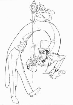 Long backed Jack: Lineart by superxtoon