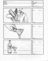 Storyboards for Smirnoff Commercial 2 by Stungeon