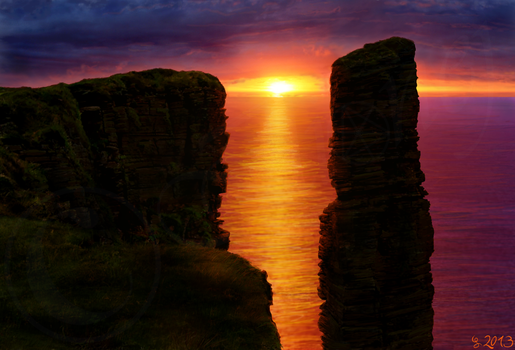 The Green Hill - 20 Old Man Of Hoy by Ilionej