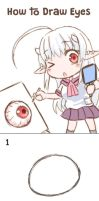 How to draw eyes DA by GreenTeaNeko
