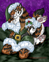 Christmas Tigress Pinup by TheSilverhyena