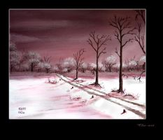 Winter Path by Clu-art