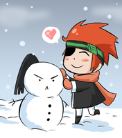 Lavi and the Snow Kanda by BladeXD