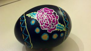 Rose Pysanka by QueenzSerenity3
