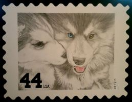 Puppy Love .:stamp:. by strryeyedreamr27
