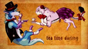 Teatime Darling collaboration by RonTheWolf