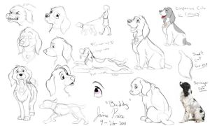Dog companion cube doodles by Jaimep