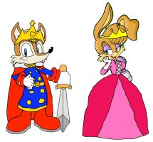 King Antoine and Queen Bunnie by KingLeonLionheart