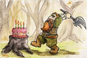 WoW: Cutting The Cake - dwarf style by Kitanokata
