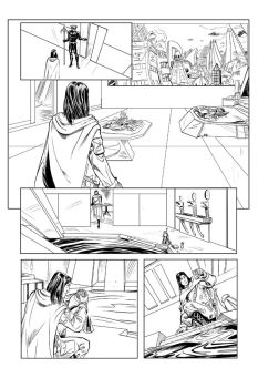 EarthSons issue 3 page 2 inks by DJLogan