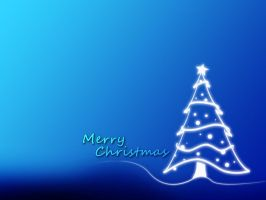 Christmas Wallpaper Blue by EpiclyAlice
