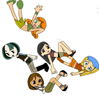 chibi total drama girls by Atuttumomo