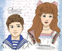 Alexei and Anastasia by GracefulTatiana1897