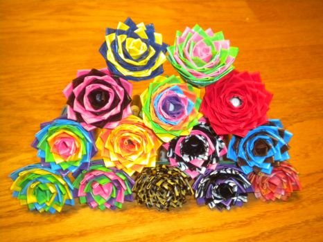 Duct Tape Flowers by SharpieObsessed