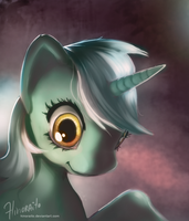 MLP FIM: Lyra Portrait by hinoraito