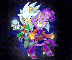 Silver and Blaze in space by LeniProduction