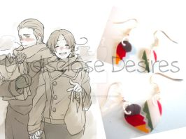 APH - Germany x Italy - Half Heart Earrings by Undisclose--Desires