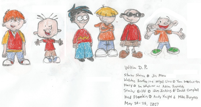 Stanley Wallabee and other Boy Cartoon Characters2 by WillM3luvTrains