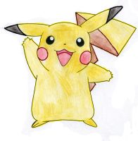 Pikachu Coloured By Pencils by chand-de-vamp