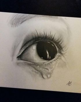 sad eye by andre-aw