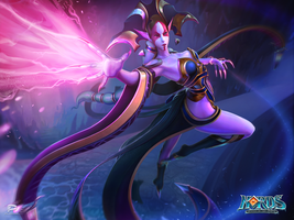 Wallpaper - Dark Elves Banshee by OtherDistortion