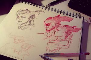 Dragon Age Inquisition - sketchdump by mortinfamiART