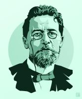 Anton Chekhov by monsteroftheid